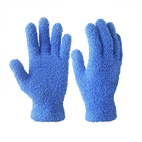 EvridWear Microfiber Auto Dusting Cleaning Gloves for Cars and Trucks, Dust Cleaning Gloves for House Cleaning, Perfect to Clean Mirrors, Lamps and Blinds (3Pairs S/M)
