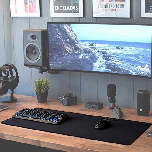 Sidorenko XXL Gaming Mauspad groß – 900 x 400 mm – Fransenfreie Ränder – rutschfest – XXL Mousepad – Schreibtischunterlage – spezielle Oberfläche verbessert Geschwindigkeit – MAXLVL – schwarz - 2