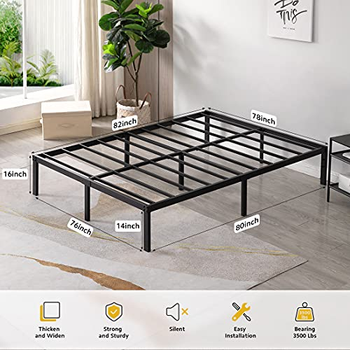 TATAGO 3000 Pounds King Size Bed Frame