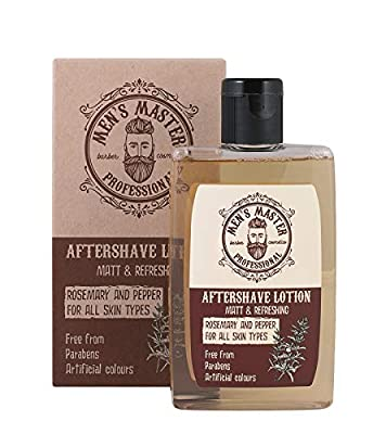 """Soothing Aftershave Lotion""""Rosemary and Pepper"""" Cosmetics for Men, Parabens FREE, 120 ml of Men's Master from Rosa Impex"""