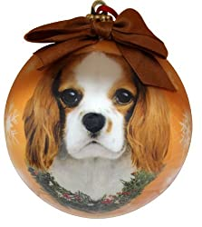 King Charles Cavalier Christmas Ornament Shatter Proof Ball Easy To Personalize A Perfect Gift For King Charles Cavalier Lovers[E&S Pets/Amazon]