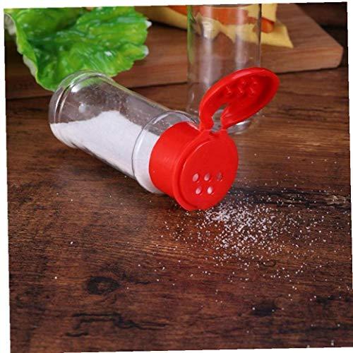 12 Pz Sale Pepe Shaker Stagionatura può Plastica Spice Jar Bottiglie Barbecue Condimento in Polvere Cruet Container