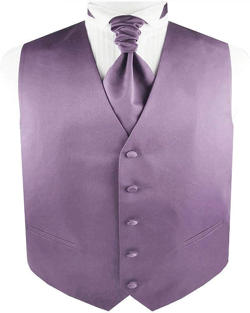 Men's Solid Plain Suit Wedding Waistcoat Set