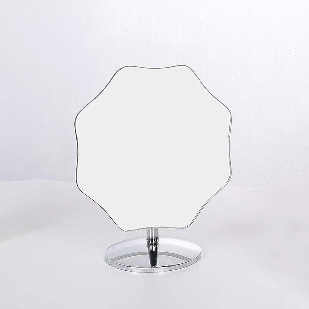 肥料歯車蛾CONCEN HD化粧鏡ヨーロッパシングルミラーデスクトップ大型化粧台ミラー回転デスクトップミラーポータブルプリンセスミラーHDミラーは回転することができます (Color : L)