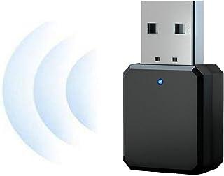 NMD&LR Adaptador Bluetooth, Transmisor Bluetooth Auxiliar De Audio Estéreo Inalámbrico para Automóvil USB 5.1, Adecuado pa...