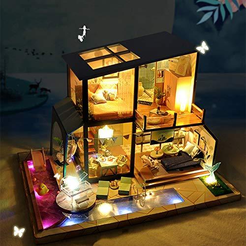 ソフィー ドールハウス 手作りキットセット ミニチュア ミニ家具工芸品キット オルゴール 防塵ケース付き 「人魚伝説」