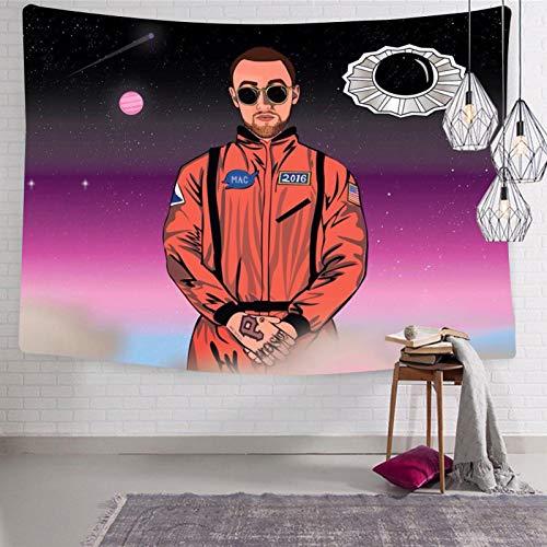 168 Ma-c Mi-ller - Tapiz para pared con diseño de álbum gracioso para el hogar, suave y ligero, para dormitorio de 133 x 21 cm