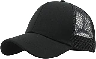 One Nice Unisex Solid Color Trucker Plain Baseball Hat Mesh Splice Visor Cap Golf Hats Adjustable Plain Cap