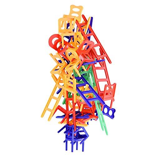 WEofferwhatYOUwant Stapelspiel Stühle & Leitern. Stuhl auf Stuhl. Geschicklichkeitsspiel. Spaß für die ganze Familie!! 44-teilig