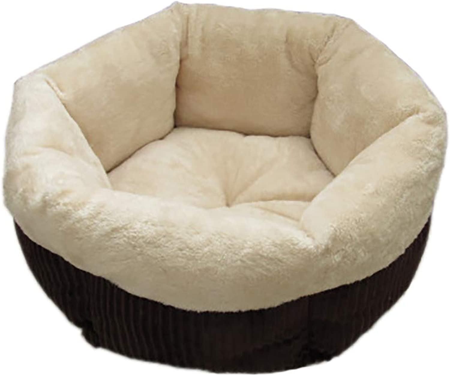 Deluxe Pet Beds,Small Animal pet Bed cave,pet beds for Cats Small Dogs, Styles,Easy Maintenance Dog Bed,Beige,S