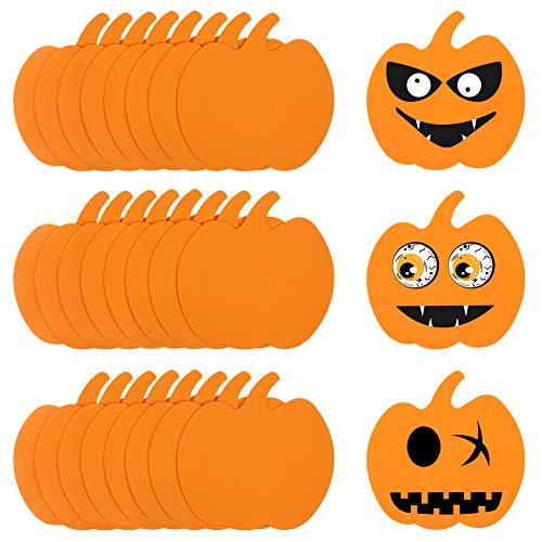 HAKACC Schaum Halloween Kürbis, 40 Stück Halloween Bastel Set Schaum Kürbis Form für Halloween Kinder Bastel Party Dekorationen