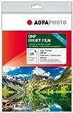 AgfaPhoto AP10A4OHPINK Photopapier, A4, Overhead Folie, 100µm, 10 Seiten Overheadfolie, Inkjetfolie, Business Quality