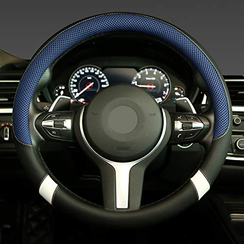 Steering Wheel Cover with Breathable Mesh Universal 15 inch...