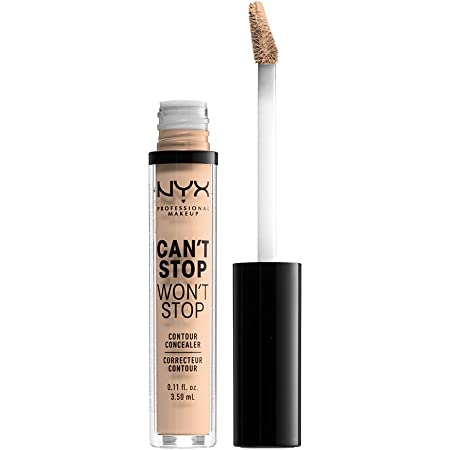 NYX PROFESSIONAL MAKEUP Can't Stop Won't Stop Contour Concealer, 24h Full Coverage Matte Finish - Vanilla