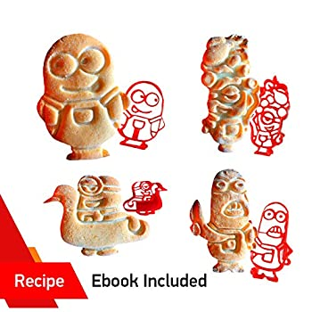 3D COOKIE CUTTERS by WNF Craft - For Extra Fun Baking – Safe and Plastic Perfect for Making Cookies Mini Sandwiches Shapped Cheese  c Minion set