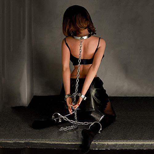Bondage Sets Handschelle Stahlfesseln Mit Kette Handgelenk/Hände Zu Fußfesseln Restraint Fetisch Bedroom Fun