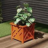 Pure Garden 50-LG5011 Square Planter Box, Terracotta
