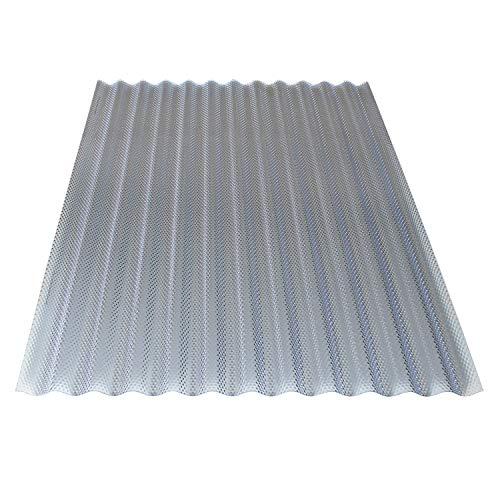 KAISER plastic® Placa corrugada de panal, Xtra Strong (PC), estructura de panal y transparente, 2,6 mm de grosor, onda 76/18, 90 x 120 cm, 1 unidad, fabricado en Alemania