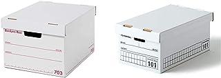 【セット買い】フェローズ バンカーズボックス 新703S A4サイズ 赤 3枚1セット 収納ボックス ふた付き 1006301 & バンカーズボックス 101 <ミニサイズ> ハンドライティング