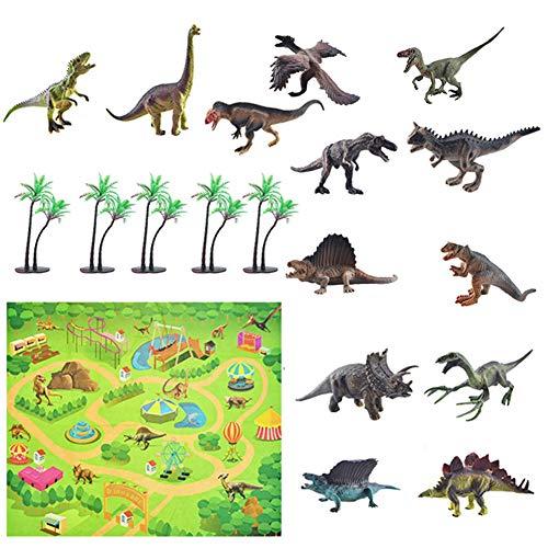 jingjing Juego de 12 alfombrillas de juego con diseño de animales marinos, diseño de dinosaurios, juego de mapas (C)