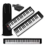 iLearnMusic DR-01 88-Keys Attachable Electric Piano Keyboard | Semi-Weighted 88 Key Electronic Piano Keyboard | Portable Keyboard Piano with Dual Speakers (Black)