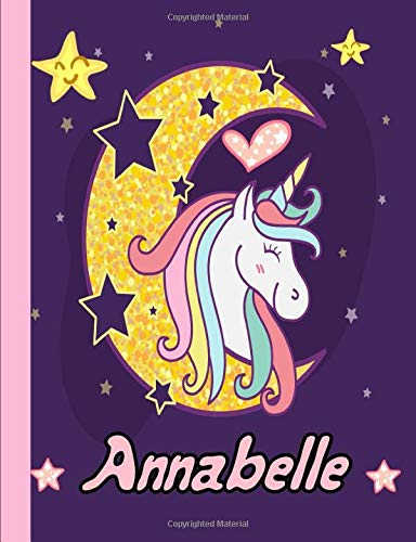 Annabelle:Personalized Unicorn journal...