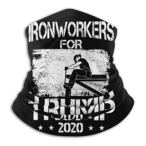 Ironworkers For Trump 2020 Ironworker Face Mask Neck Gaiter Multi-Functional Balaclava Bandana For Dust Outdoor