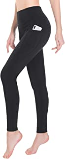 TAIBID Women's High Waist Thermal Yoga Pants with Pockets Fleece Workout Running Leggings, Size S-XL