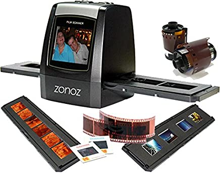 "$89 Get zonoz FS-ONE 22MP Ultra High-Resolution 35mm Negative Film & Slide Converter Scanner w/ 2.4"" TFT LCD - No Computer or Software Required - TV Out Cable Included & Worldwide Voltage 110V/240V AC Adapter"