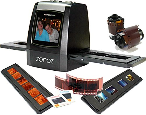 "zonoz FS-ONE 22MP Ultra High-Resolution 35mm Negative Film & Slide Converter Scanner w/ 2.4"" TFT LCD - No Computer or Software Required - TV Out Cable Included & Worldwide Voltage 110V/240V AC Adapter"