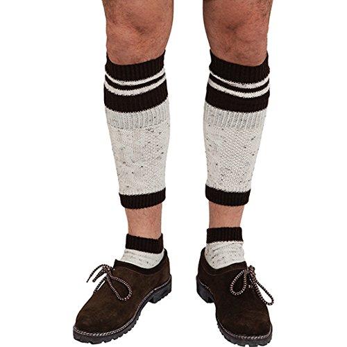 Trachten Socken mit Stulpen 43/46 Oktoberfest Trachtensocken Bayrische Trachtenstrümpfe und Wadenwärmer Lederhosen Herrensocken Bayern Strümpfe Wiesn Männersocken Karnevalskostüme Accessoires Herren