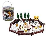 SCS Direct Farm Animal Toys Action Figures 50 Piece Toy...