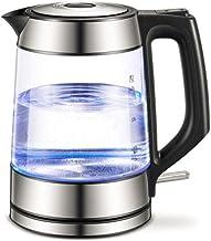 Elektrische waterkoker van Eco-glas,draadloze waterketel van 1,7 liter met blauwe LED-verlichting,snelkookwaterkoker voor ...