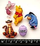 Disney Winnie The Pooh Animal Cartoon Honey Food Novelty Craft Buttons by Dress It Up