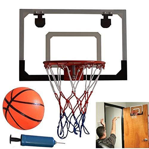 Ejoyous Basketball-Rückwand, Indoor Mini Basketball System Rückwand Hoop Kit Mini Basketballkorb Mini Basketball Hoop Dekomprimieren Spielzeug Freizeit Sport mit Ball und Pumpe