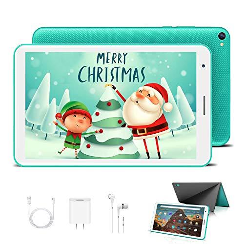 Tablet para Niños con WiFi 8.0 Pulgadas 3GB RAM 32GB/128GB ROM Android 10.0 Pie Certificado por Google GMS 1.6Ghz Tablet Infantil Quad Core Batería 5000mAh Tablet PC Netflix Juegos Educativos(Verde)