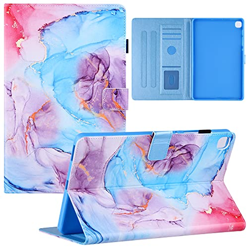 YKTO Funda para Samsung Galaxy Tab S6 Lite SM-P610/P615 10.4' Protectora Flipper Smart Cover Completa Protectora Carcasa de Cuero PU Cuero Carcasa para Samsung Tab S6 Lite SM-P610/P615, Azul marmol