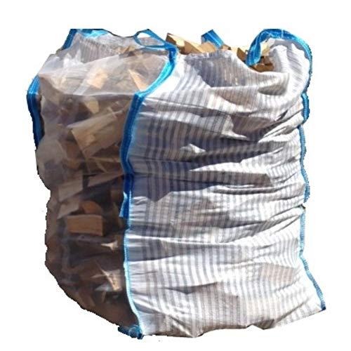 Hochwertiger Holz Big Bag speziell für Brennholz * Holzbag, Woodbag, Hersteller * 100x100x120cm * Holz trocknen + transportieren Direkt vom Hersteller