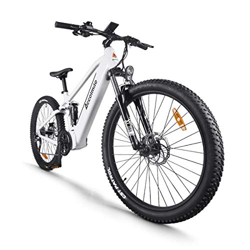 Electric Bicycle 48V 750W Bafang Mid Drive Motor 27.5' Wheel 9-Speeds Derailleur Ful-Shark Absorption Mountain Ebike with 12.8Ah Battery (LG Cells)
