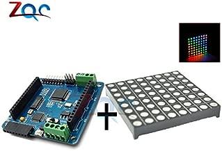 Full Color Rainbow Colorduino V2.0 Dot Matrix RGB LED Driver Shield + LED RGB Matrix Module Driver Board 8 for Arduino AVR