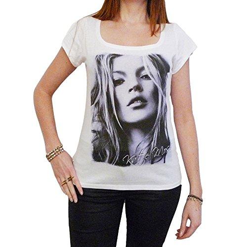 Kate Moss : Damen T-Shirt 7015257 - Weiß, S, t Shirt Damen, Geschenk