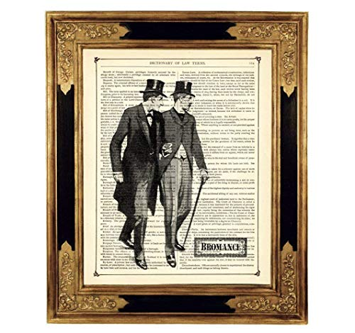 Sherlock Holmes Dr. John Watson Freundschaft Kunstdruck auf antiker Buchseite Geschenk Geburtstag Steampunk ungerahmt