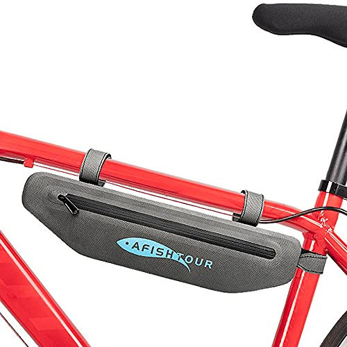 Roeam Bolsa Cuadro Bicicleta Impermeable para MTB Bicicleta de Carretera,2L Bolsa Bicicleta,Gris