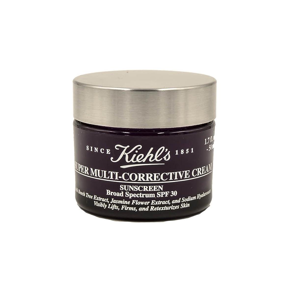 水を飲む不愉快吸収するKiehl's Super Multi-Corrective Cream Sunscreen Broad Spectrum SPF 30 1.7oz
