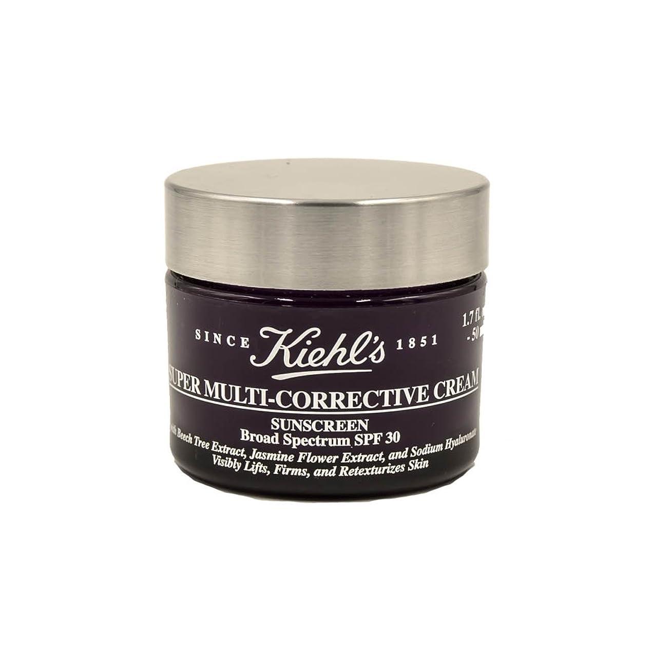 取得する花束未就学Kiehl's Super Multi-Corrective Cream Sunscreen Broad Spectrum SPF 30 1.7oz