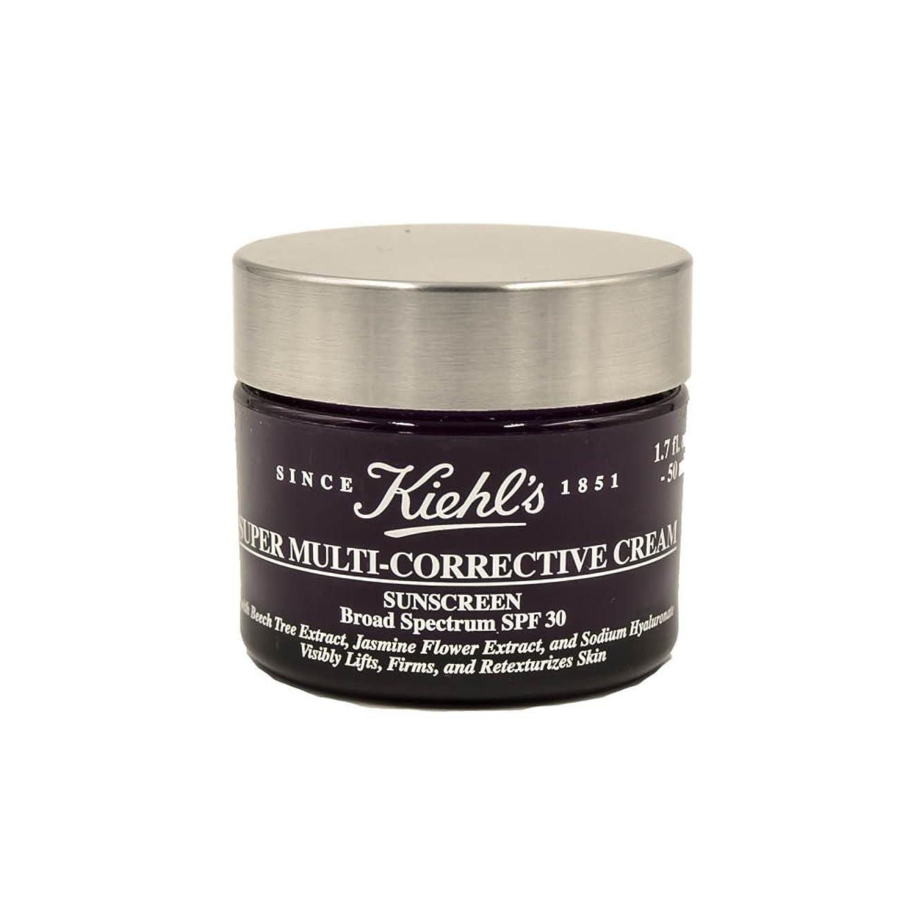 準備するチートこのKiehl's Super Multi-Corrective Cream Sunscreen Broad Spectrum SPF 30 1.7oz