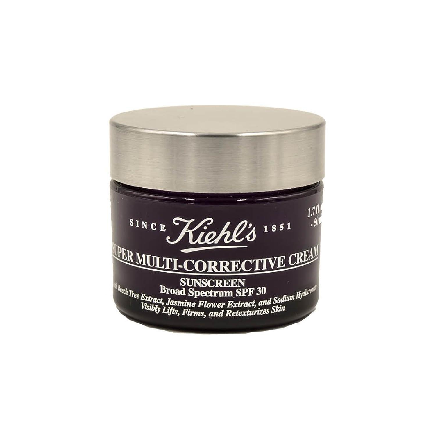 不和チャンス大きさKiehl's Super Multi-Corrective Cream Sunscreen Broad Spectrum SPF 30 1.7oz