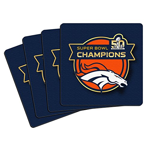 Denver Broncos - Super Bowl 50 Champions 4 Stück Neopren Untersetzer