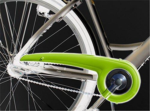 DEKAFORM Fahrrad Kettenschutz 180-2 bis 36/38 Zähne für Hercules KTM Staiger Winora Fahrrad * hellgrün