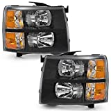 2Pcs Headlight Assembly Left & Right Compatible For Chevy 2007-2013 Silverado 1500 2500 35...